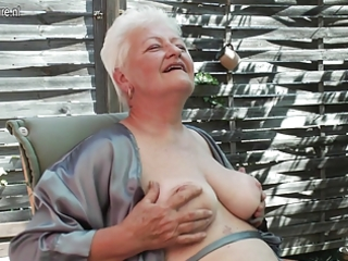 granny shows her beaver still needs three-some act