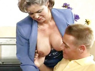 breasty mamma acquires drilled in the office