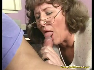 mad old mommy receives deep snatch fuck and does