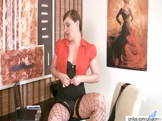 hot d like to fuck in fishnets disrobes and