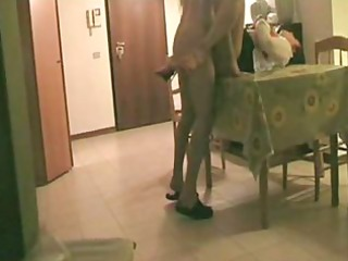 hidden cam. aunt screwed on the table !