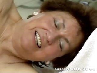 youthful guy fucking chubby hairy granny