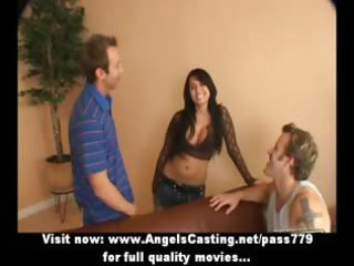 amazing latin chick mother i does 010 in car and