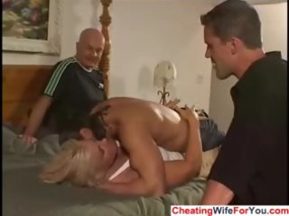 breasty milf is a cuckold wife