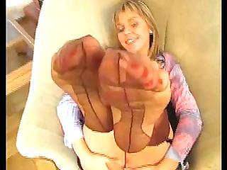 nylon stocking teasing