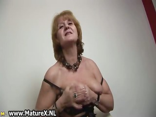 hawt old housewife stripping and playing part10