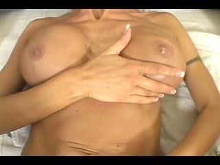 Blonde milf fucks the two roomies in the same