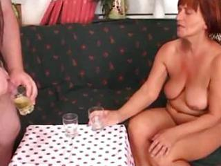 Piss-and-cum-drinking-italian-granny