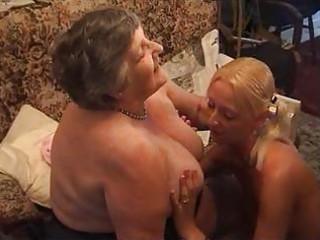 grandma eats a sweet lesbi angel