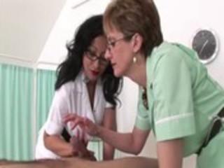 femdom fetish older nurses give cook jerking