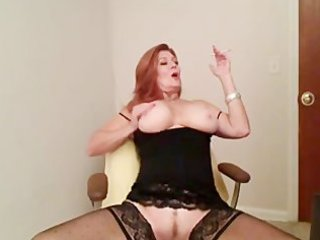 redhead older smokin and playing