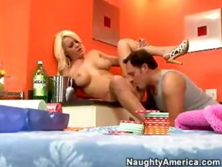 breasty blond wife megan monroe seduces hubby for