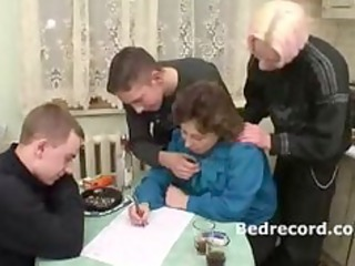 Mature Russian with 3 boys 1