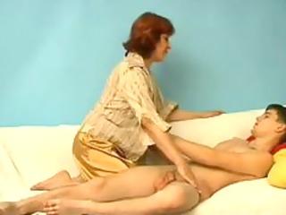youthful slim chap with fat mature russian woman