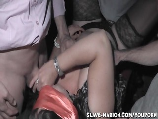 bareback group sex at the adult theater
