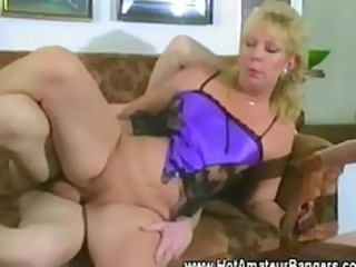 older non-professional wife screwed balls
