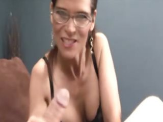 horny milf acquires facial after tuggin jock and