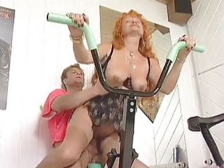 redhead aged workout love