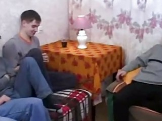 Real  russian mom fucks her sons friends