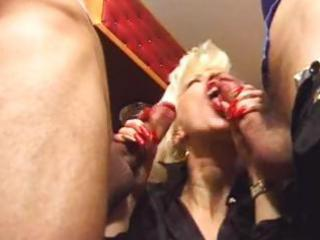 excited mother double penetrated by allies on the