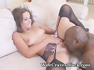 hubby is proud that i engulf dark cock!