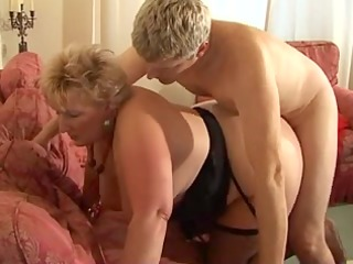 Blond Shorthair big beautiful woman-Granny by