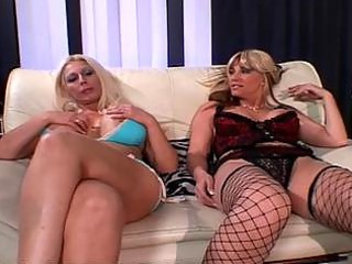 lesbo milfs love to share toys
