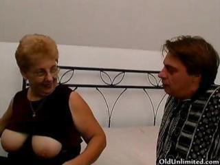 chubby old mamma with large boobs can engulfing