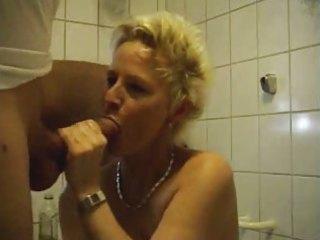 older woman fucking in bathroom