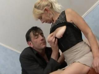 blonde granny acquires a pecker to engulf and