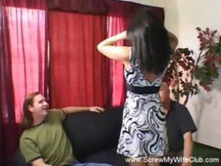 dark brown wife is a swinger and will engulf or