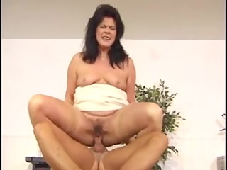 sexy curvy euro dark brown hair granny