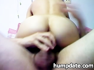 Wife with nice butt gets her ass rammed hard