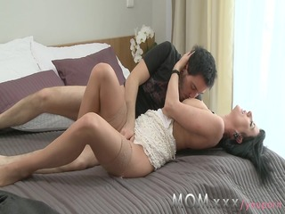 mommy cheating milf plays away