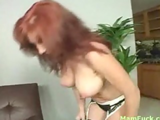 marvelous redhead mom shows a-hole daughter how