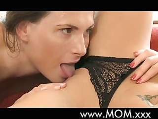 MOM Hot lesbian milfs make love