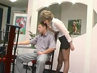 Pantyhose Granny Gets Oral mature mature porn