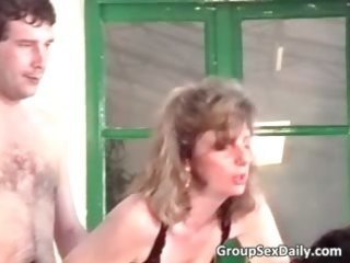two slutty older couples are fucking