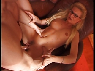 french mother i with glasses in gang bang party