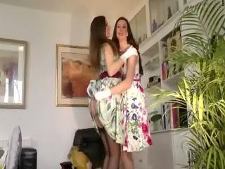 older stockings amateur euro lesbos