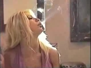 blonde smokin milf