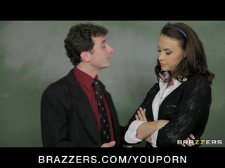 cute breasty school teacher in sexy uniform fucks