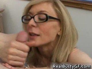 blonde mom in glasses licking unbending part4
