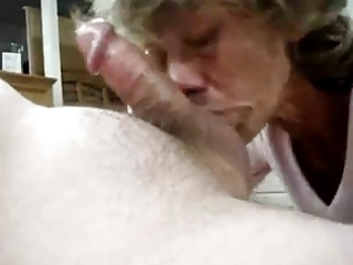 mature swallows his load