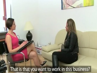 older woman fucking on leather daybed