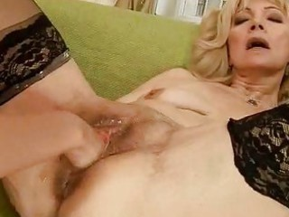 Horny granny getting fisted