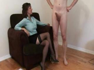 stocking wearing mother i jerks a boyz pounder