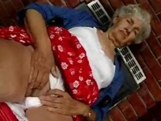 hairy granny likes dildos