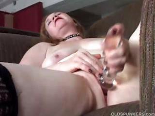lovely aged hottie has a chunky soaked cunt