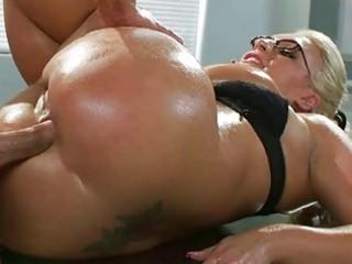Enormous boobs milf sadie swede oily ass pounded
